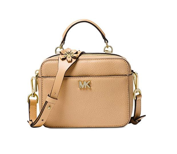 20e027438c47 ... MICHAEL Michael Kors Mini Floral Leather Crossbody - Pale  Gold/Butternut 32T8TF5C1Y-106. Image 1