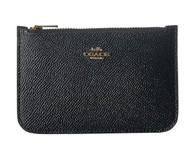 COACH Women's Zip Card Case in Crossgrain Leather Li/Black One Size 29688-LIBLK