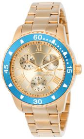 Invicta Women's 21769 Angel Quartz Chronograph Rose Gold Dial Watch