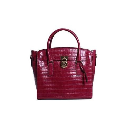 2aa5f1d9f58600 ... Michael Kors Hamilton Large East West Leather Satchel in Mulberry  30F7GHMS7E-666. Image 1
