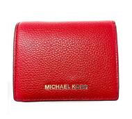 MICHAEL Michael Kors - Mercer Flap Card Holder (Burnt Red) Credit card Wallet 32T7GM9D1L-361
