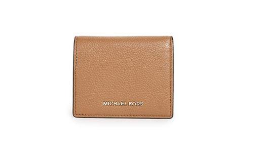 9f4c927a134e3e ... MICHAEL Michael Kors Women's Money Pieces Flap Card Holder, Acorn, One  Size 32T7GM9D1L-532. Image 1