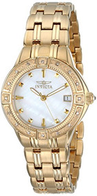 Invicta Women's 0268 II Collection Diamond Accented 18k Gold-Plated Watch Inv...