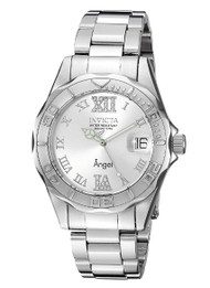 Invicta Women's 'Angel' Quartz Stainless Steel Casual Watch, Color:Silver-Toned (Model: 14396)