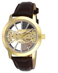 Invicta  Men's 25266 Objet D Art Mechanical 2 Hand Grey, Gold Dial Watch