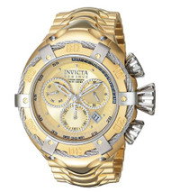 Invicta Men's 'Bolt' Swiss Quartz Stainless Steel Casual Watch, Color:Gold-Toned (Model: 21345) …