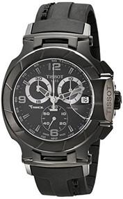 Tissot Men's T0484173705700 T-Race Analog Display Swiss Quartz Black Watch Ti...