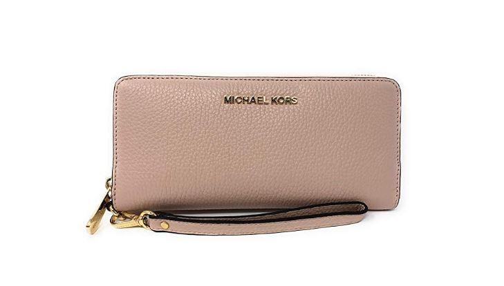 5f68d48900dd ... Michael Kors Jet Set Travel Continental Leather Wallet/Wristlet -  Ballet 35T7GTVE7L-857. Image 1