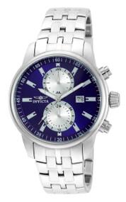 Invicta Men's 21557 Specialty Quartz 3 Hand Blue Dial Watch