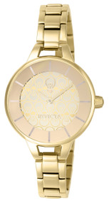 Invicta Lady 22912 Gabrielle Union Quartz 3 Hand Gold Dial Watch