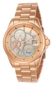 Invicta Women's 23569 Angel Quartz 3 Hand Rose Gold, Silver Dial Watch