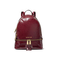 MICHAEL Michael Kors Rhea Medium Crinkled Calf Leather Backpack - Oxblood 30H8GEZB3T-610