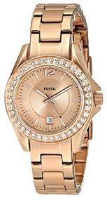 Fossil Women's ES2889 Riley Rose Gold Dial Watch [Watch] Fossil
