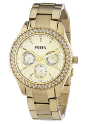 Fossil Women's Stainless Steel Analog Gold Dial Watch ES3101 [Watch] Fossil