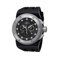 Invicta 12289 Men's Akula Sport Chrono Black Dial Black Silicone Band Watch