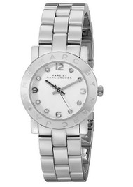 Marc by Marc Jacobs MBM3055 Women's Mini Amy White Crystal Accents Dial Stain...