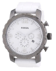 Fossil Nate Chronograph Silicone Watch - White Jr1427
