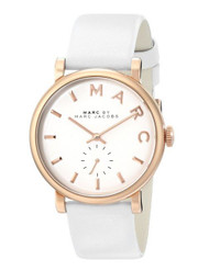 Marc Jacobs MBM1283 36mm Stainless Steel Case White Leather Women's Watch Mar...