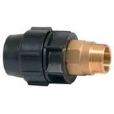 40mm Metric Poly Pipe x 40mm Male Brass Threaded Adaptor