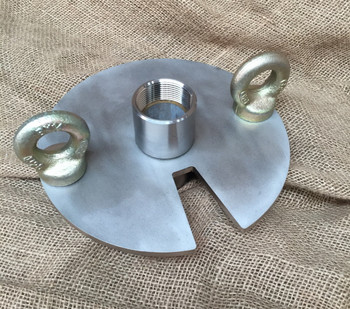 50mm stainless steel bore cap with socket outlet