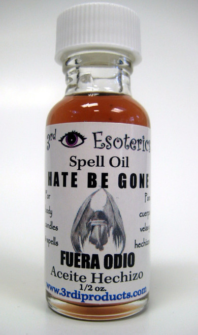 Hate Be Gone Spell Oil