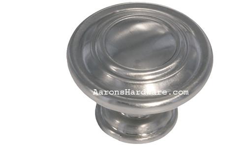 """9653-BSN Cabinet Knob Brushed Satin Nickel 1 ¼"""" Diameter"""