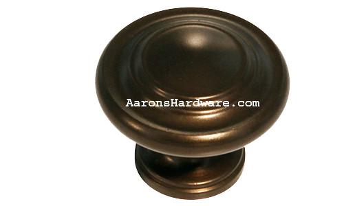 """9653-EOA Cabinet Knob Oil Rubbed Bronze 1 ¼"""" Diameter"""