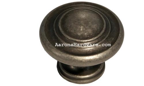 "9653-AIM-D Cabinet Knob Weathered Iron 1 ¼"" Diameter"