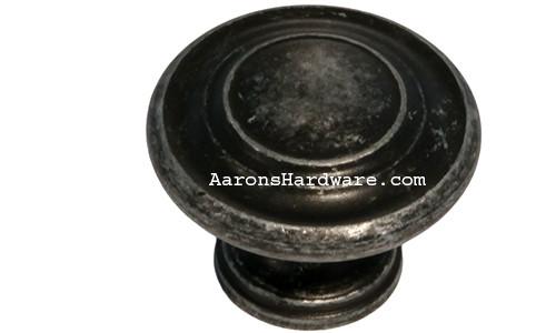 "9653-ASM-D Cabinet Knob Weathered Steel 1 1/4"" Diameter"