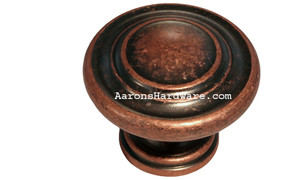 "9653-ACM-D Cabinet Knob Weathered Copper 1 ¼"" Diameter"