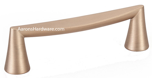 """At 4 ½"""" in length the 2342-1MDB-P Cabinet Handle In the beautiful color of Modern Bronze will be a delight for your new install or reface.  The 96mm has become a common hole spacing.  On bath vanities, furniture, or in the kitchen, these have been a great seller for a long time."""