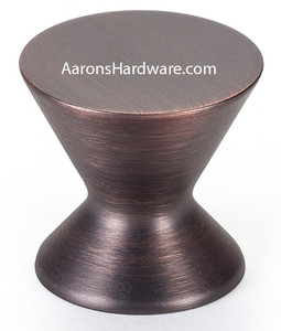 "2361-10VB-P cabinet knob in the beautiful finish of  Verona Bronze Finish.  The 1 3/16"" Diameter makes it the perfect choice for drawer fronts and or for your cabinet doors.   Use in your kitchen, bath vanities, furniture or any place a cabinet door is being used."