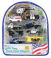 WTBPP WowToyz Police Vehicles 10 Piece w/Backpack