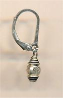 Mini Thai silver drop earrings