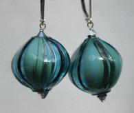 """Seafoam Murano glass """"sasso"""" earrings"""