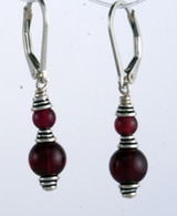 Classic double wrapped garnet earrings