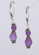 Double wrapped amethyst earrings