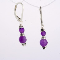 Classic double wrapped amethyst earrings