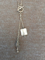 Balinese Teardrop and Thai silver Pillow Lariat Necklace
