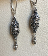 Turkish cylindrical lattice spicebox  earrings