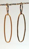 Gold vermeil oval hoop earrings
