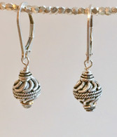 Spiral swirl sphere earrings