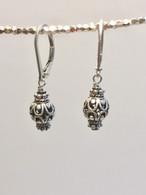 Light lattice sphere earrings