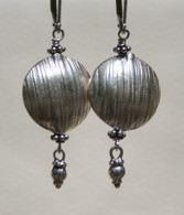 Imprinted Thai disc earrings