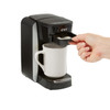 Insert brew basket with coffee filter pack