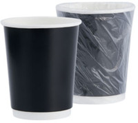 Double walled, insulates without a coffee sleeve No polystyrene, safely disposable Individually wrapped Case Quantity: 400
