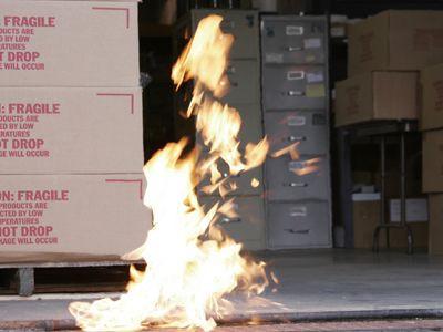 Incendio En El Sitio De Trabajo