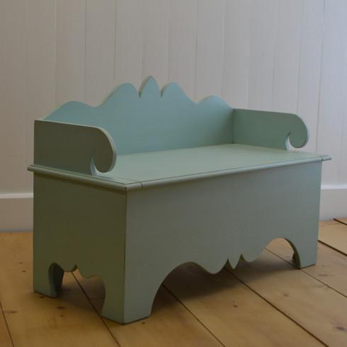 Harry's Storage Bench- Aqua