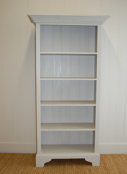 English Tall Bookcase- gustavian gray