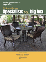 Casual Living Dining set buyers: Specialty stores vs. big box stores - 2010